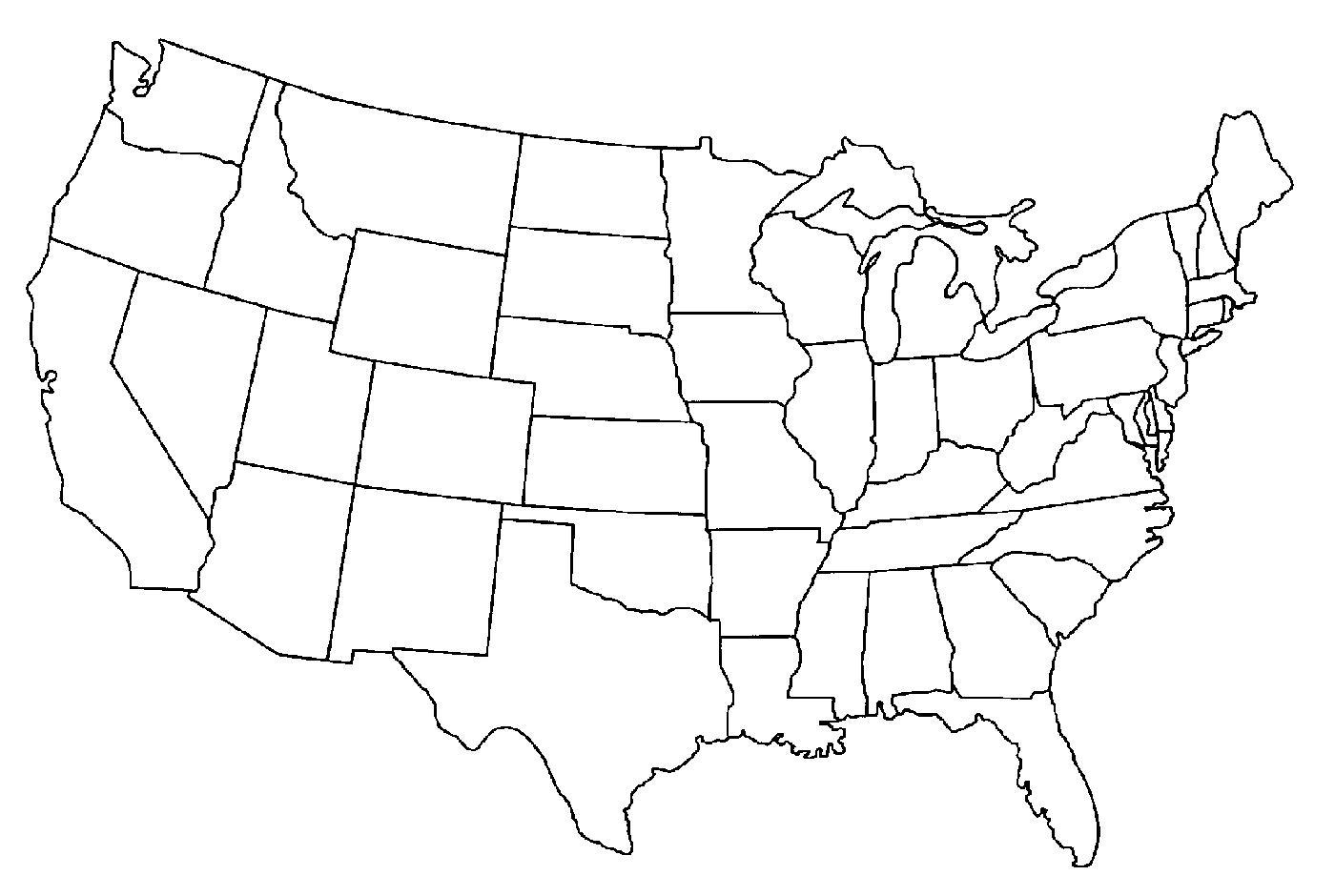 Ubersichtskarte Der Usa Karte Von Usa Gliederung Nord Amerika