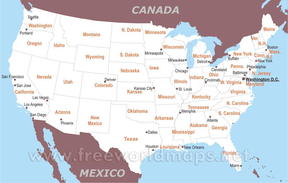 Karte Usa Karte Karte Karte Von Vereinigte Staaten Nordamerika Und Sudamerika