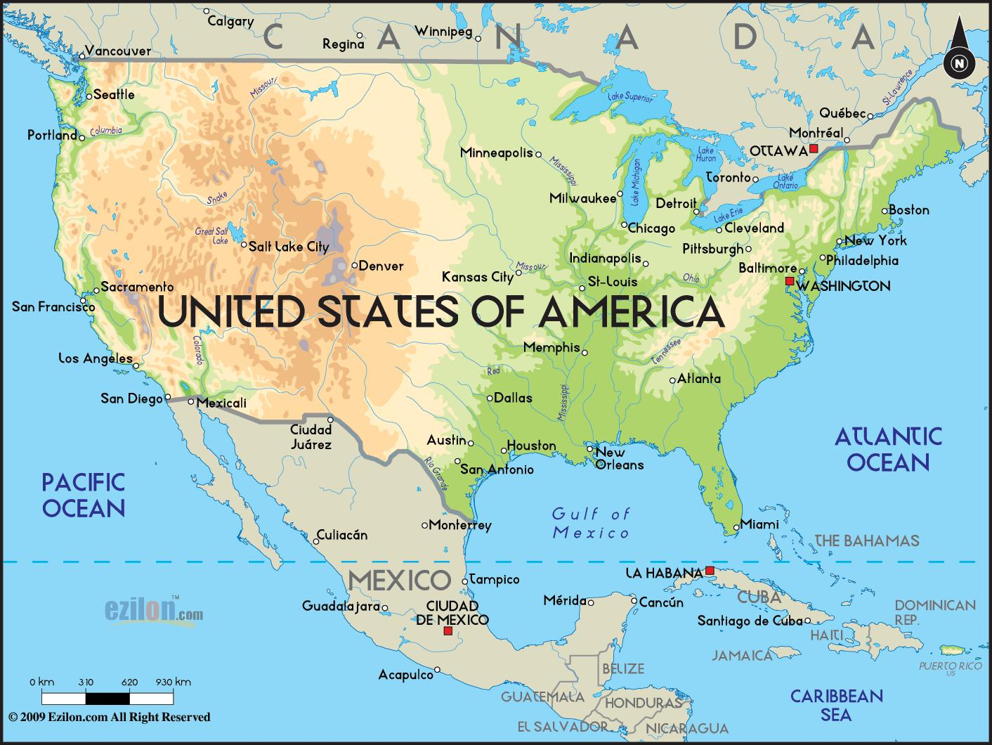 Amerika Karte Staaten.Karte Von Amerika Die Staaten Map Staaten Von Amerika