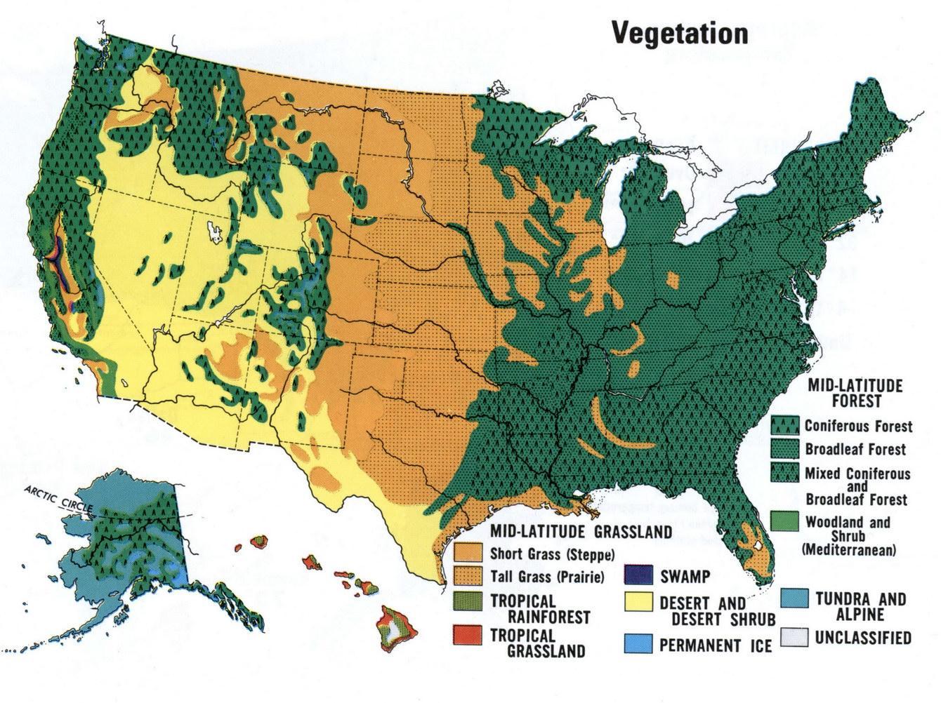 USA Wüsten-map - Karte von USA-Wüste (Nord-Amerika - Amerika) on