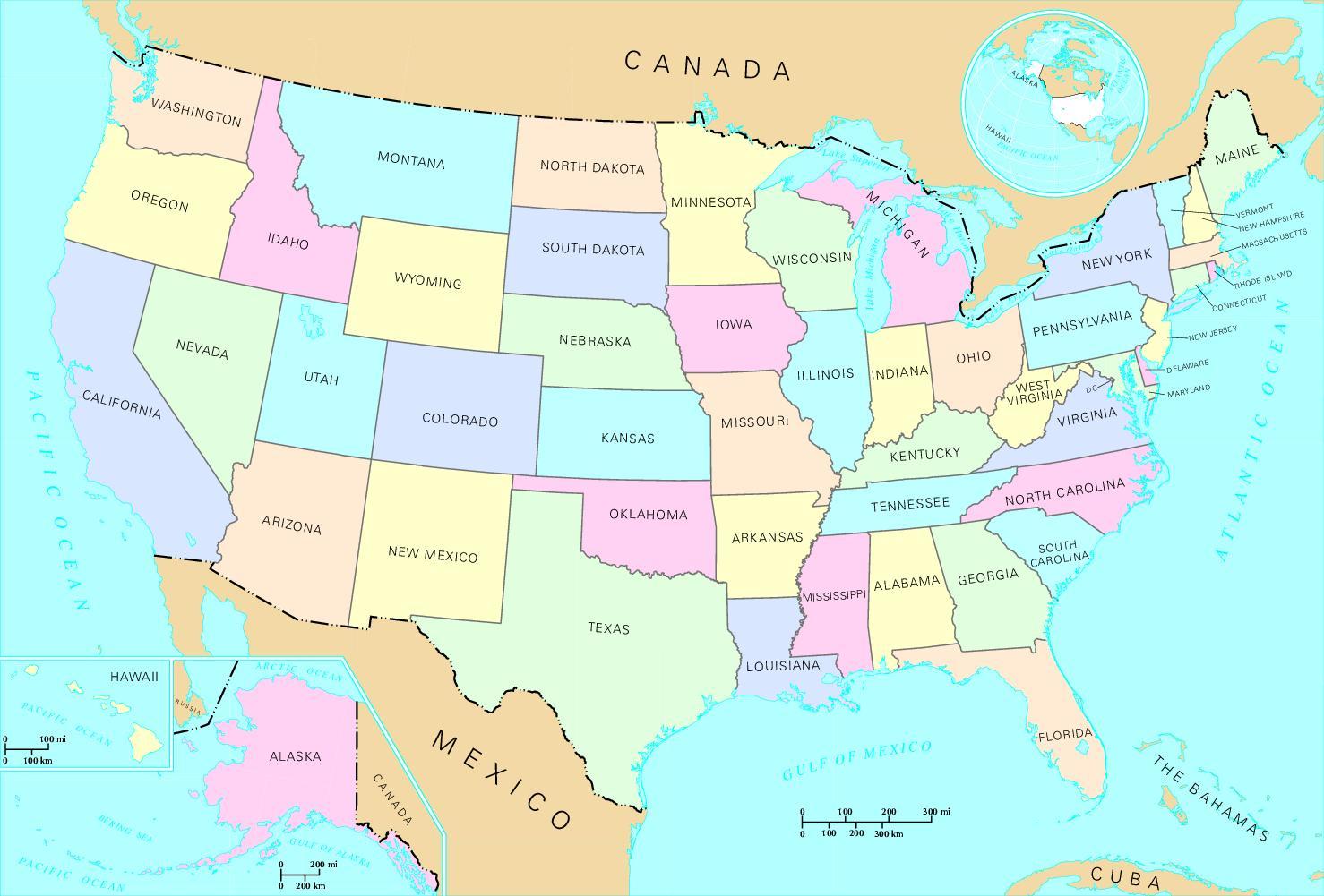 Amerika Karte Staaten.Usa Karte Staaten Usa Landkarte Staat Nord Amerika Amerika