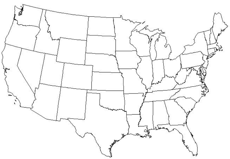 USA Staaten Karte quiz die USA States quiz-Karte (Nordamerika - und ...