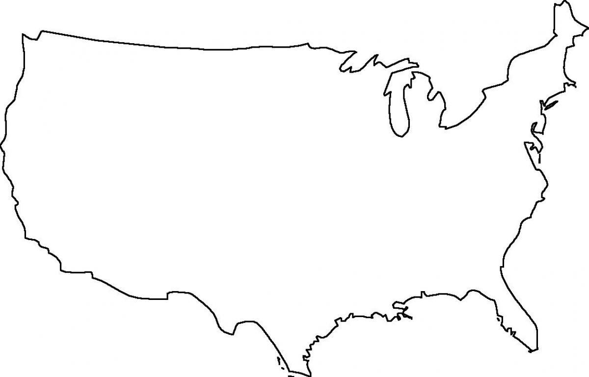 Usa Leere Karte Der Usa Landkarte Leer Nord Amerika Amerika